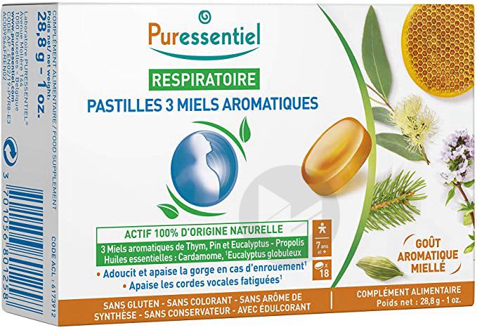 Puressentiel Respiratoire Pastilles 3 Miels Aromatiques