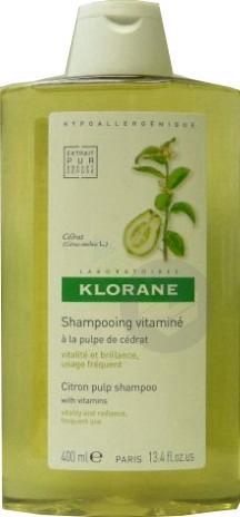 KLORANE CAPILLAIRE Shampooing Pulpe de Cédrat énergisant Fl/400ml