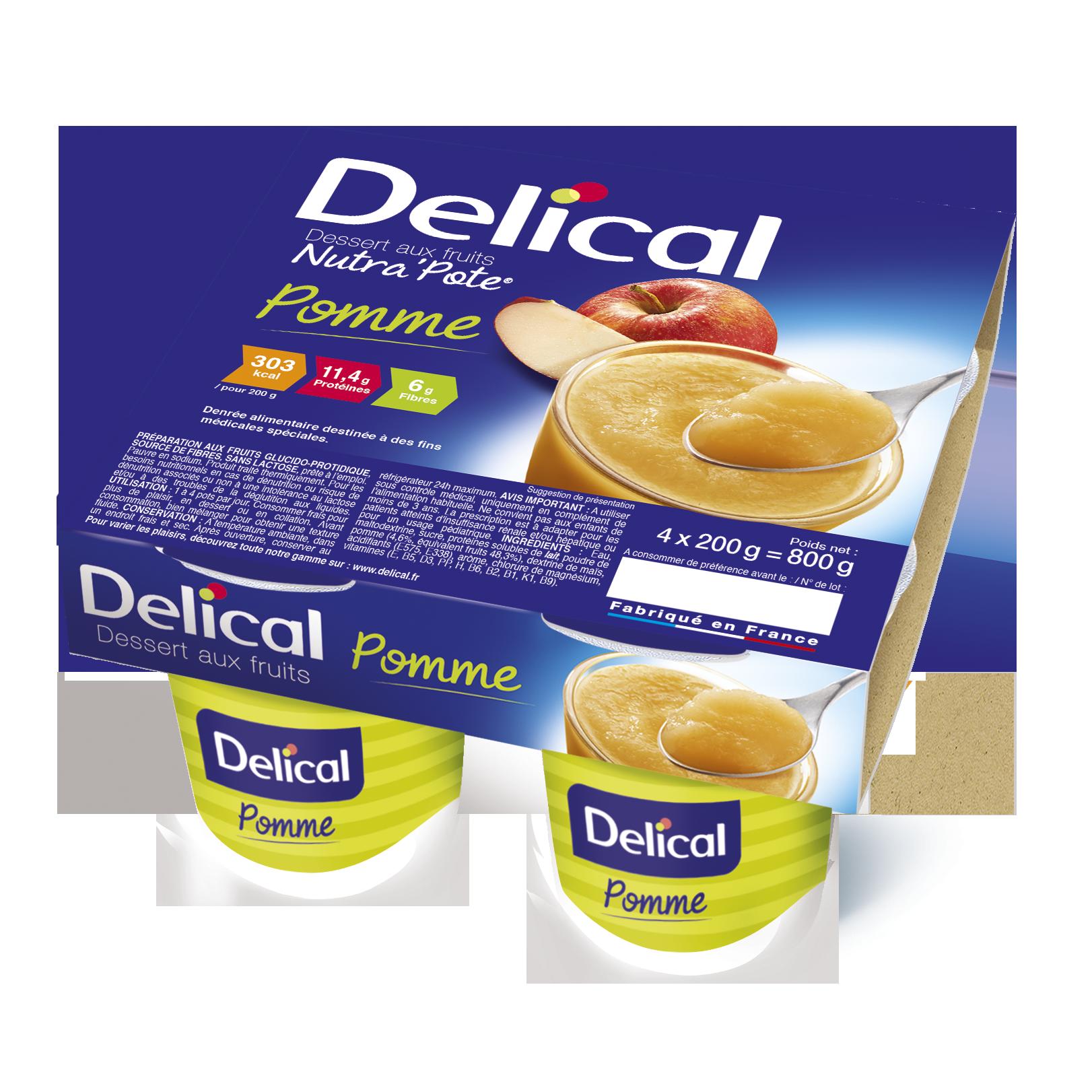 Delical Dessert Aux Fruits Nutra Pote Pomme