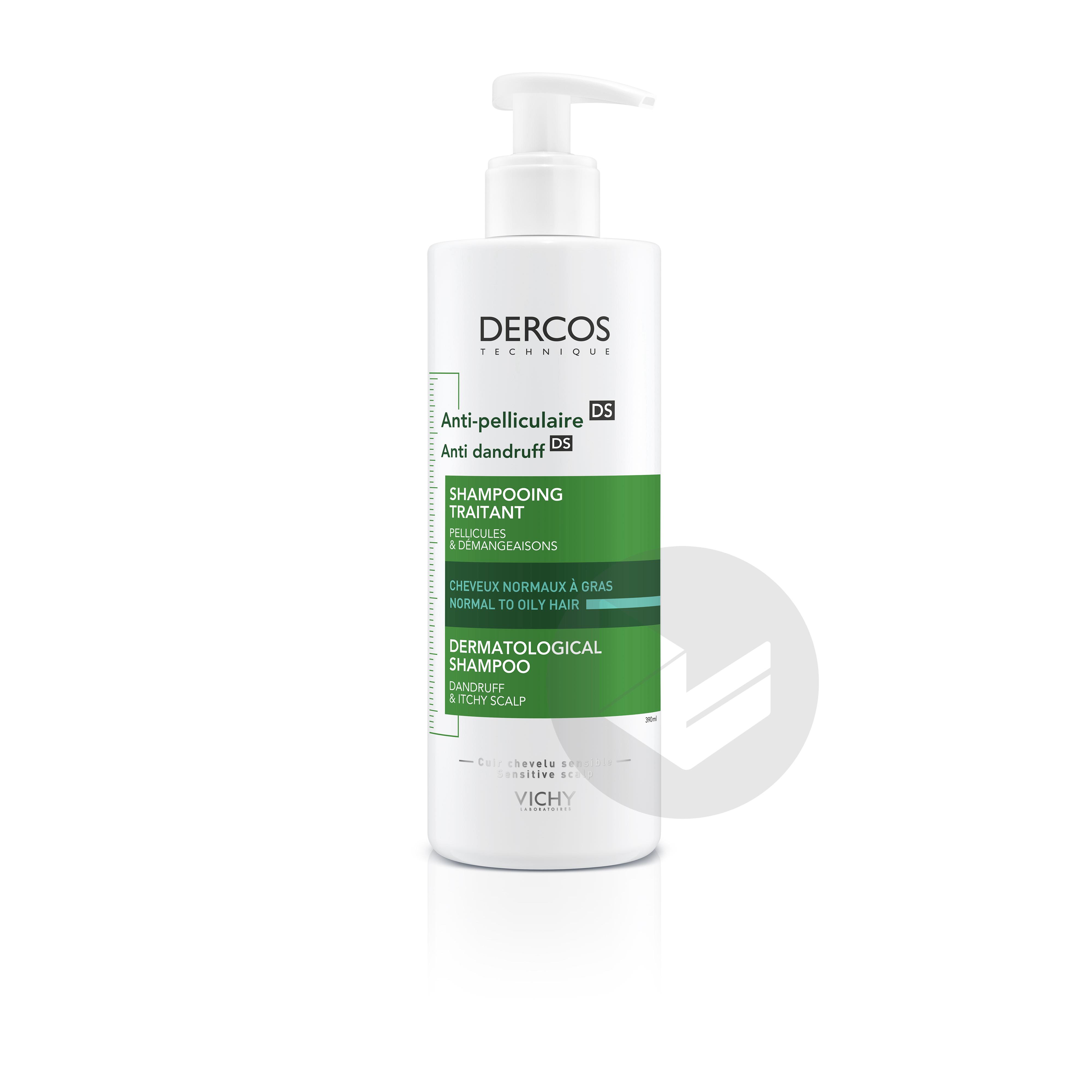 Dercos Technique Anti-pelliculaire DS Shampooing traitant pellicules & démangeaisons cheveux normaux à gras