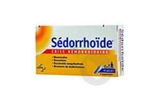 SEDORRHOIDE CRISE HEMORROIDAIRE Suppositoire (Plaquette de 8)