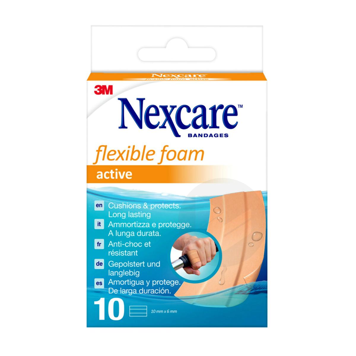 Pansements en mousse Nexcare Active Flexible 6cm x 10cm x10