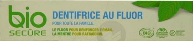 BIO SECURE Dentifrice au Fluor T/75ml