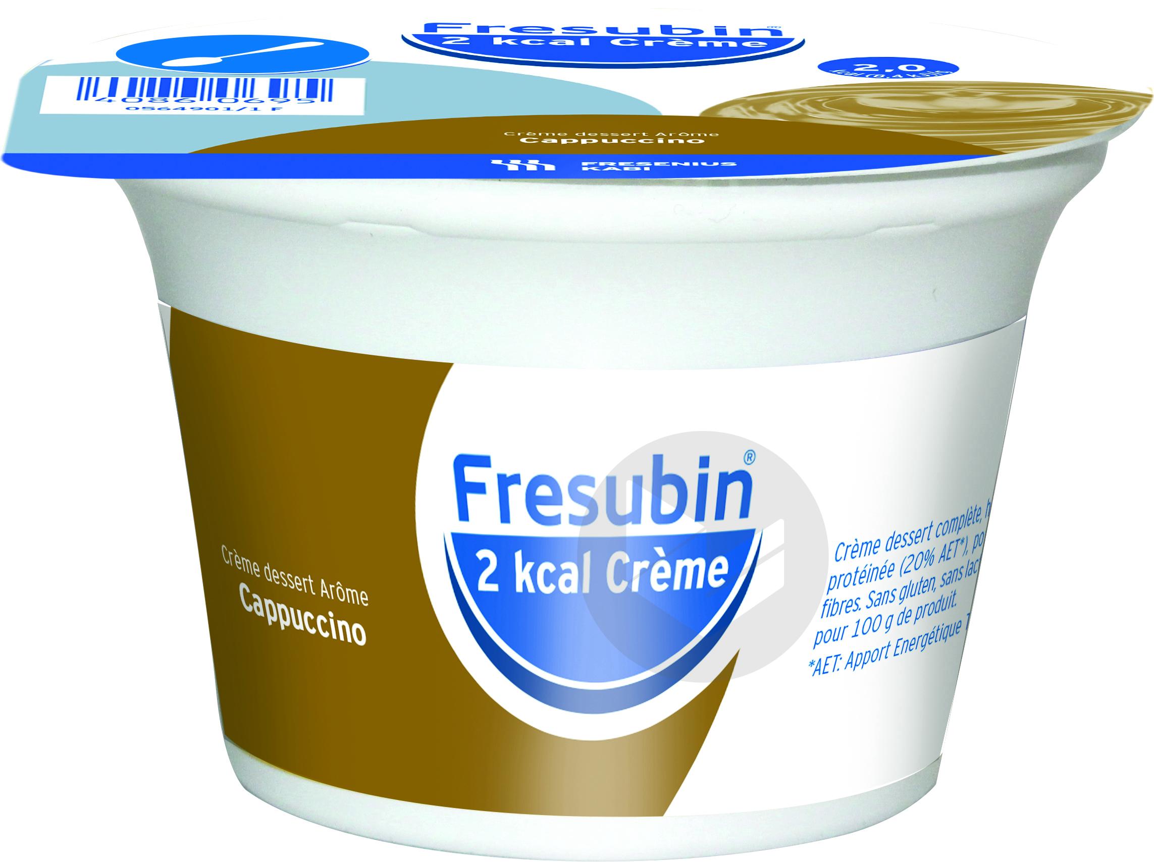Fresubin 2 Kcal Creme Sans Lactose Nutriment Cappuccino 4 Pots 200 G