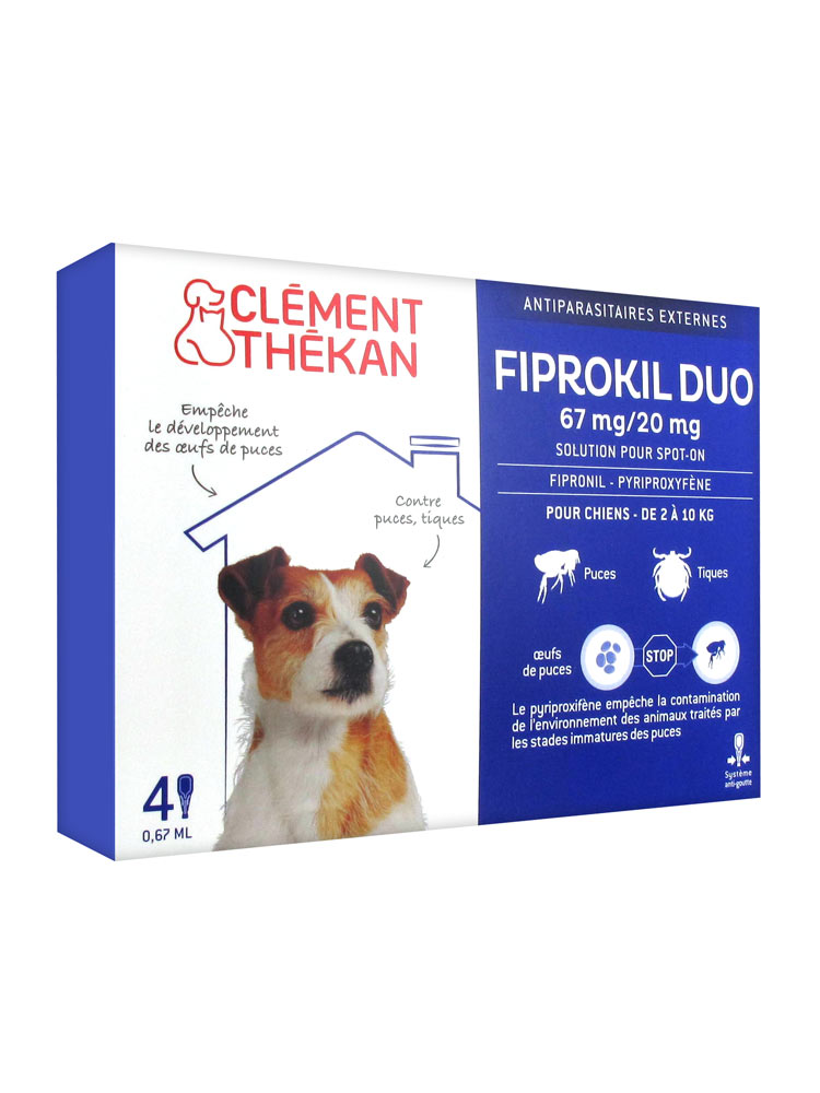 FIPROKIL DUO Solution pour spot-on chien 2-10kg 4Pipette/0,67ml