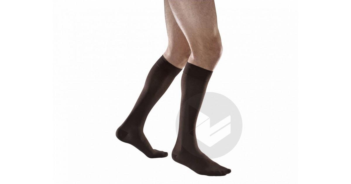 VENOFLEX CITY 2 Chaussette fil d'écosse confort homme pied fermé noir T3N