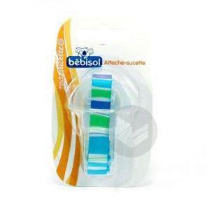 BEBISOL Attache-sucette tissu avec anneau souple