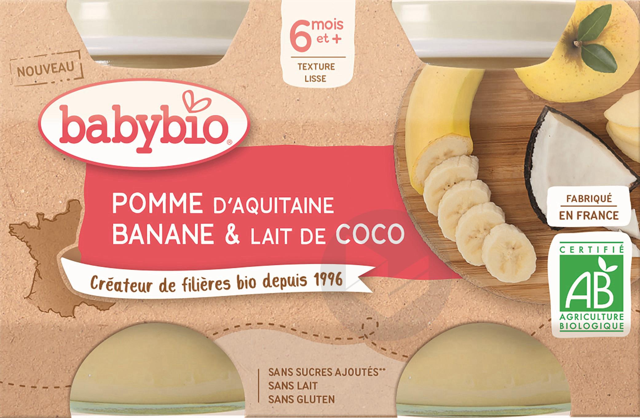 BABYBIO Pot Pomme Banane Coco