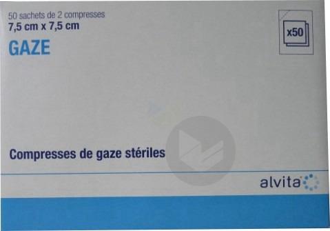 Compr Sterile 7 5 X 7 5 Cm 50 Sach 2