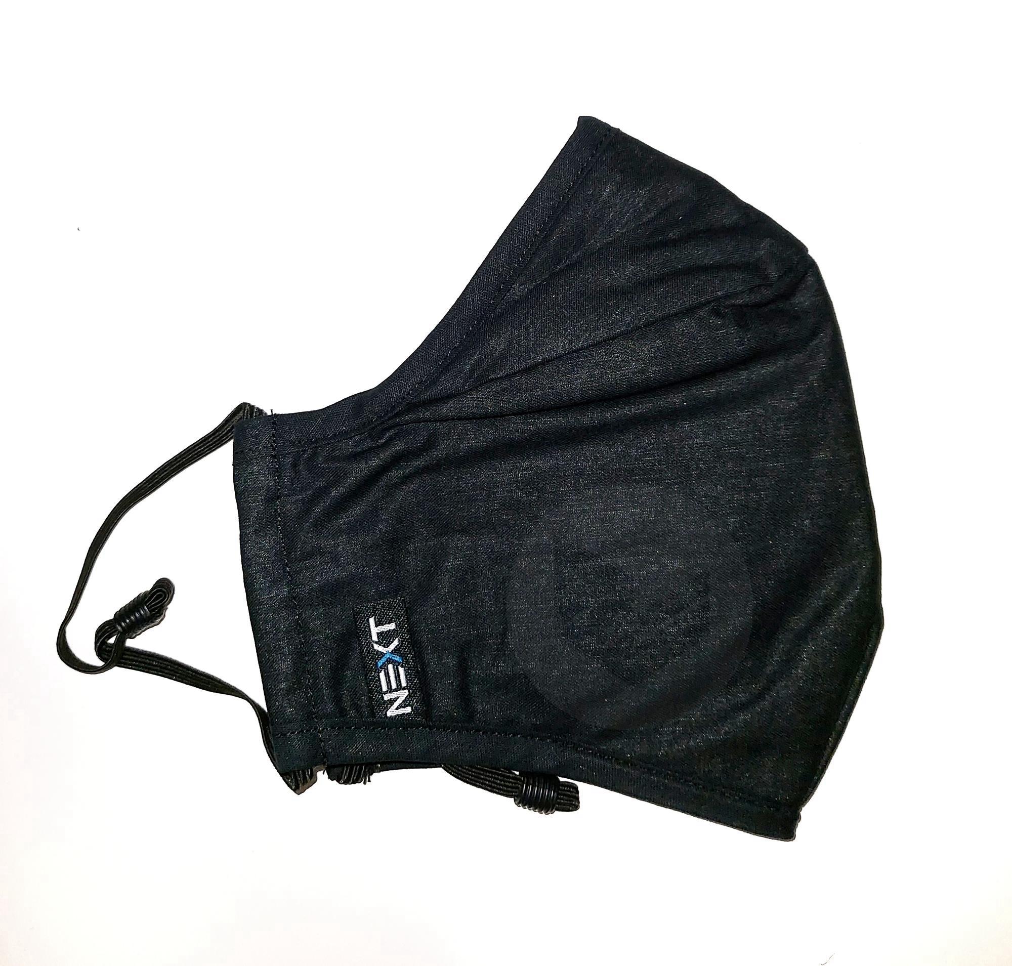 Masque Tissu Haute Protection 4 Couches Avec Cuivre 50 Lavages Noir L