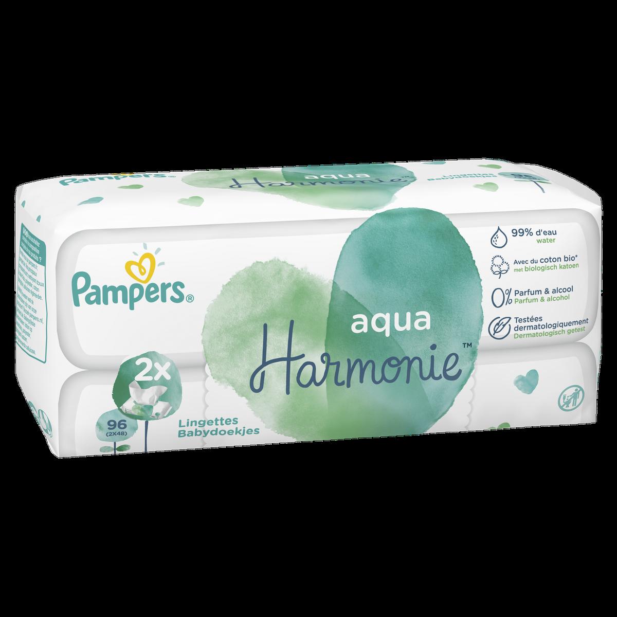 Aqua Harmonie Lingettes Pour Bébé 2x48
