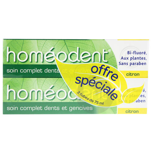 Homeodent 2 X 75 Ml Soin 2 E Cplt Citron
