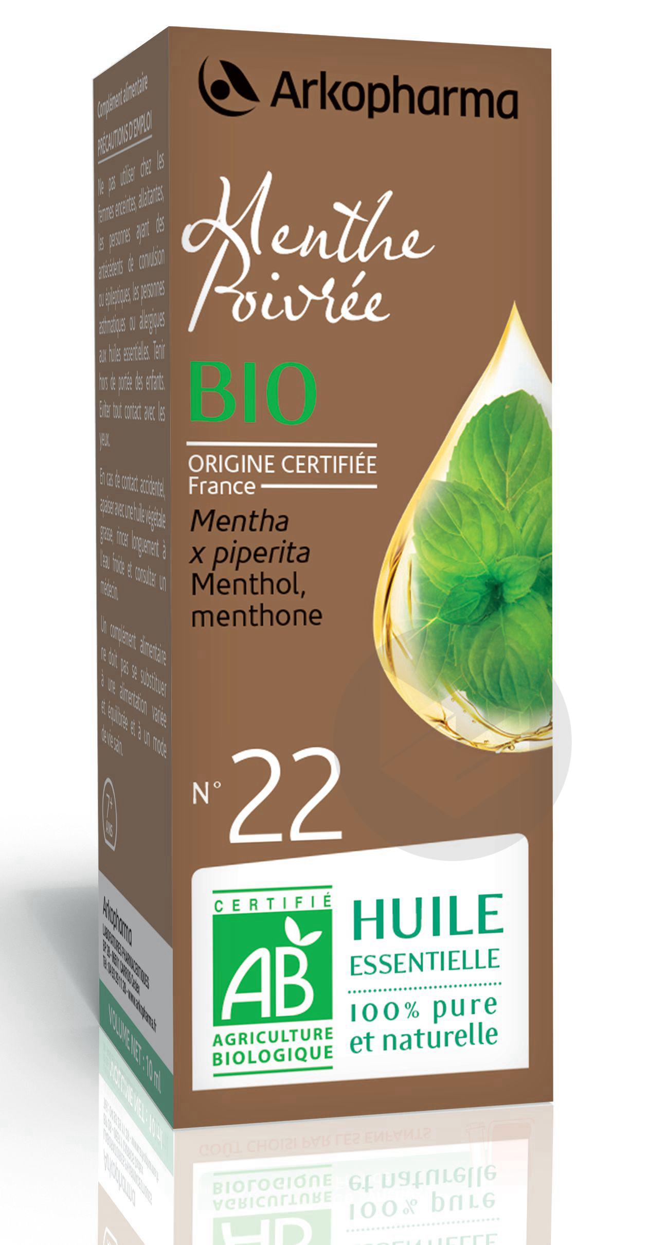 N 22 He Menthe Poivree Bio 10 Ml