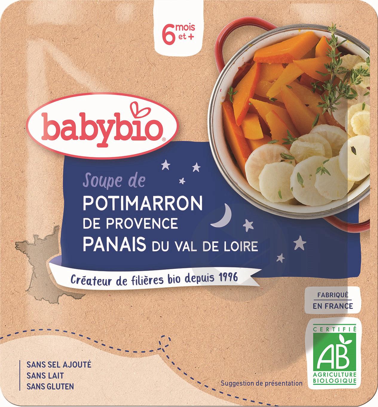 BABYBIO Poche Bonne Nuit Soupe Potimarron Panais