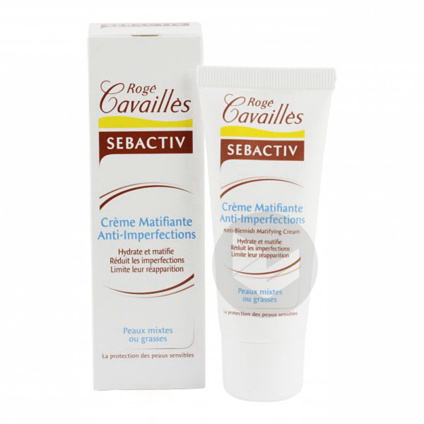 ROGE CAVAILLES SEBACTIV Cr matifiante anti-imperfections T/40ml