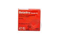BETADINE SCRUB 4 % Solution pour application cutanée (10récipients unidose de 10ml)