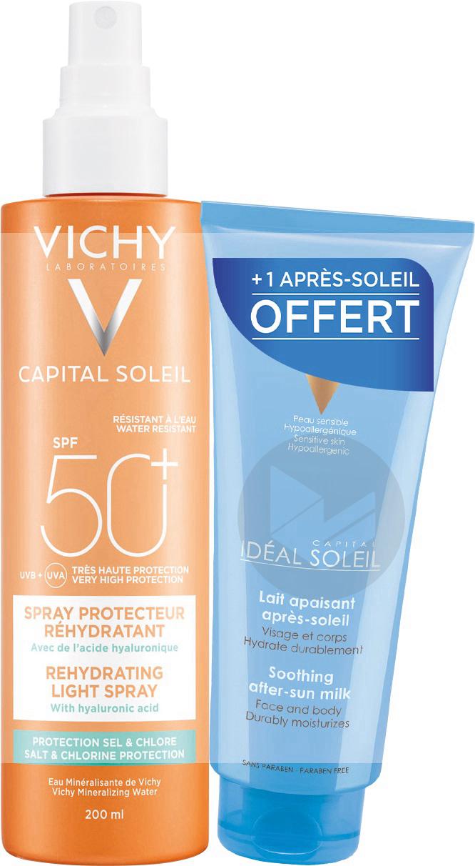 Capital Soleil Spray Protecteur Rehydratant Spf 50 200 Ml Lait Apaisant Apres Soleil Offert