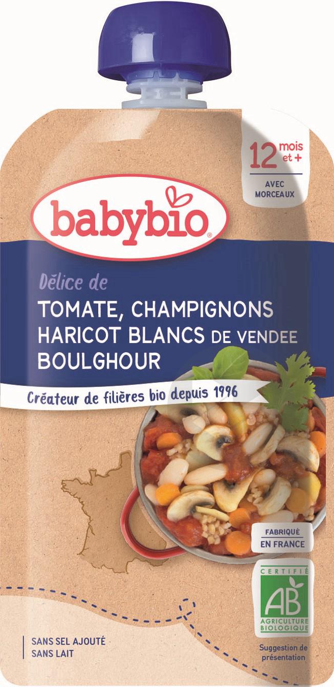 BABYBIO Gourde Bonne Nuit Tomate Haricot blanc Boulghour