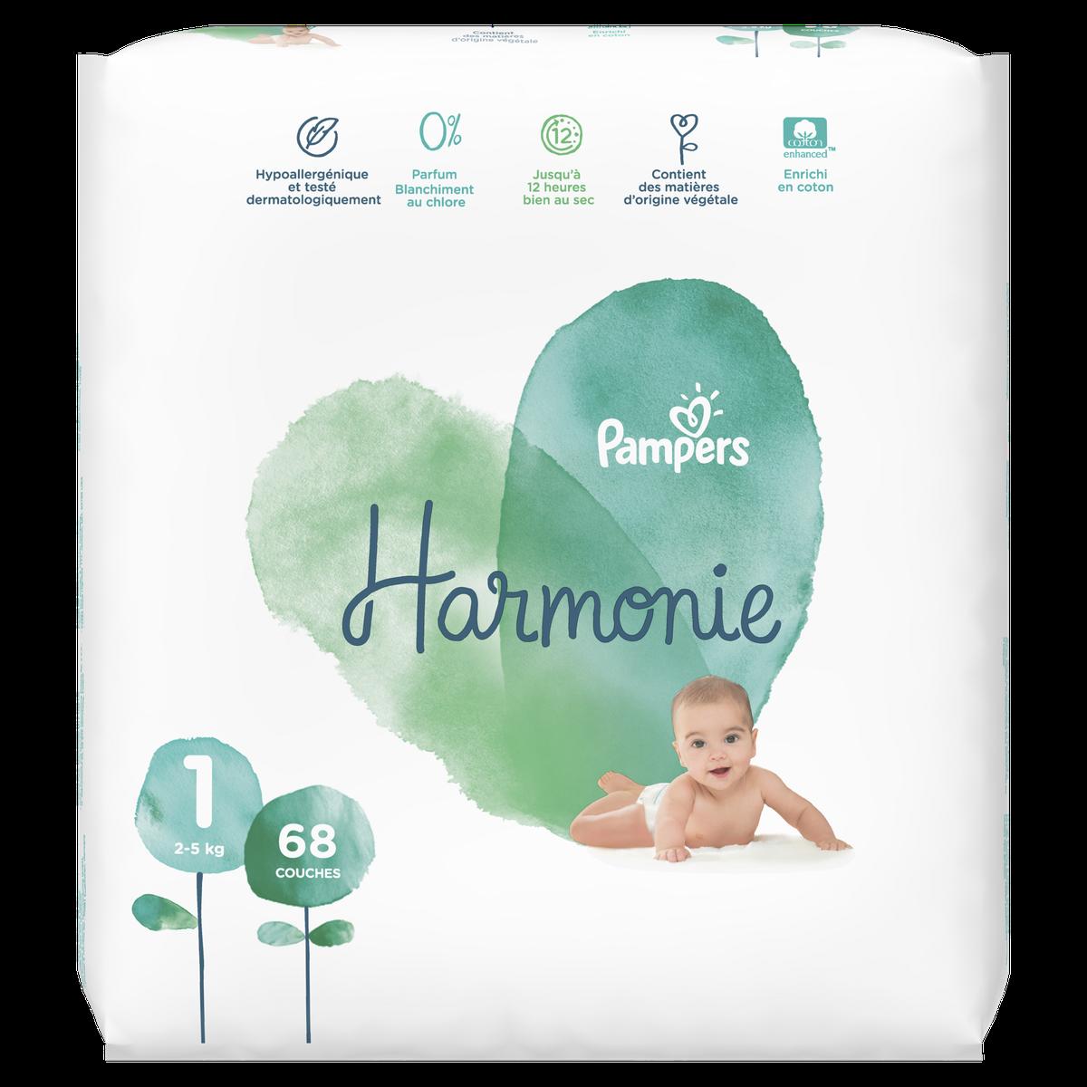 Couche Harmonie Taille 1 2 5 Kg X 68