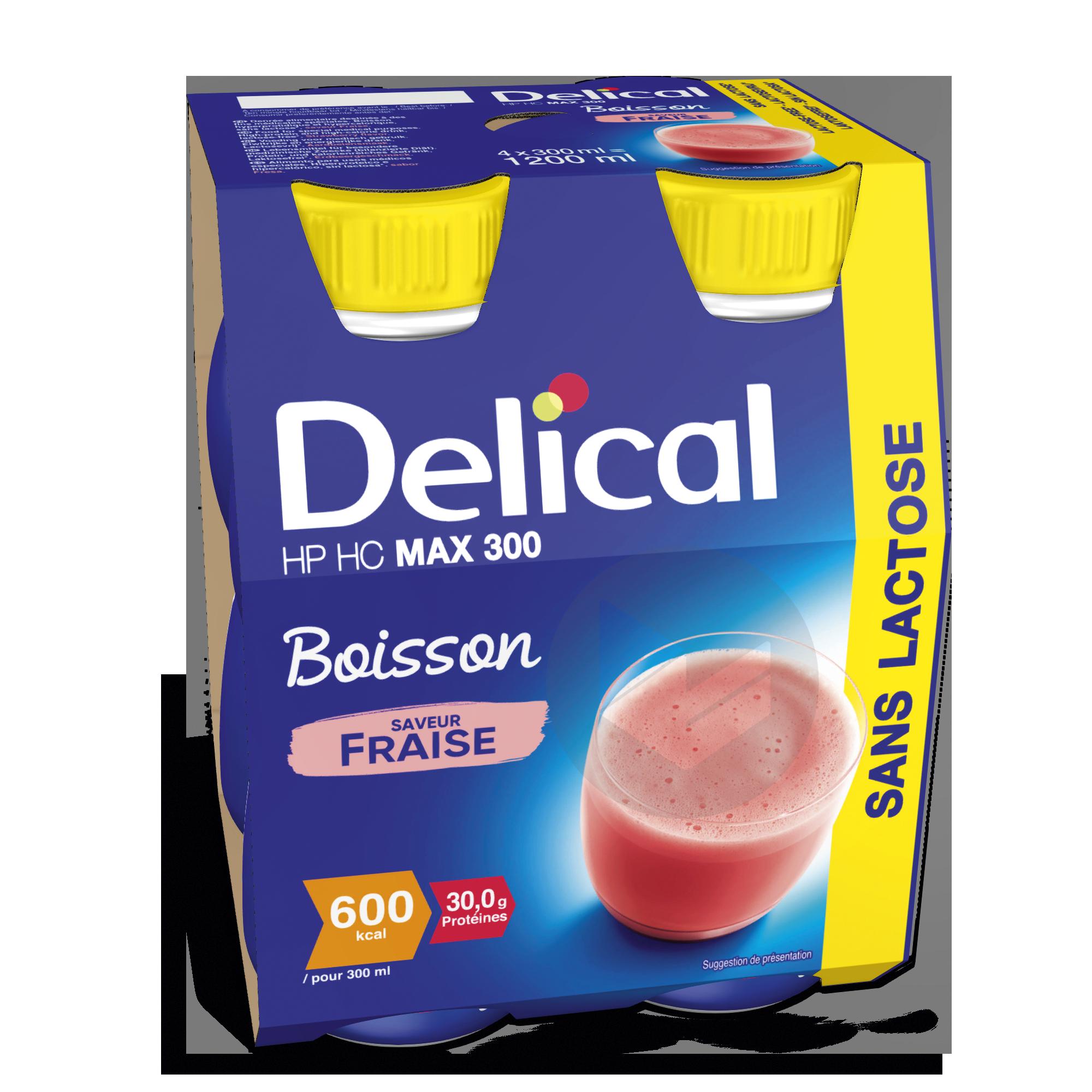 Delical Boisson Sans Lactose Hp Hc Max 300 Fraise