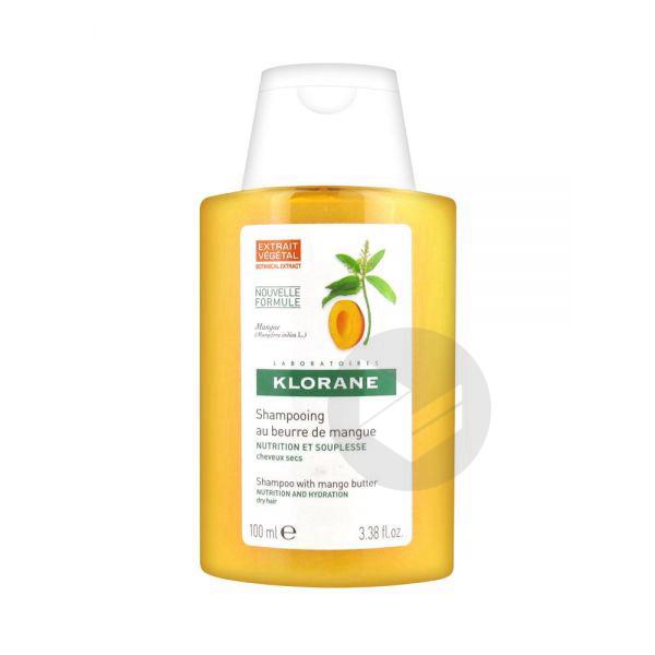 KLORANE CAPILLAIRE Shampooing nutritif Beurre de Mangue Fl/100ml