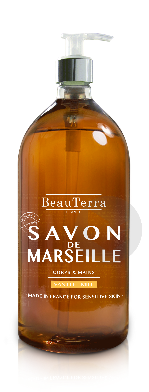 Savon De Marseille Liquide Vanille Miel 1 L