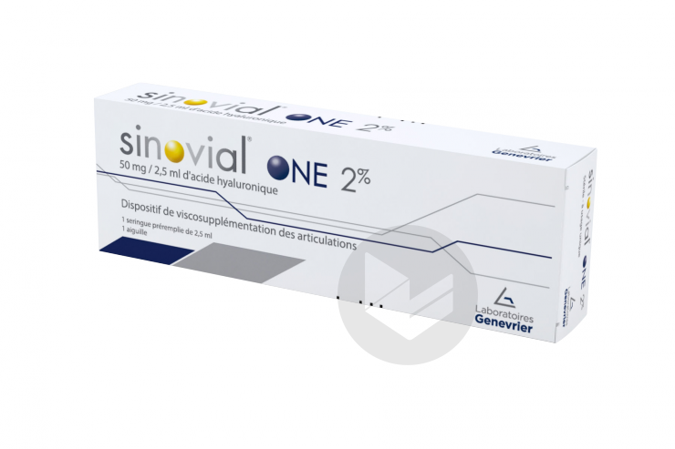 Sinovial One 2 Solution Injectable Seringue 2 5 Ml