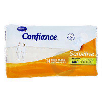 Confiance Sensitive Protection Anatomique Absorption 3 Gouttes X 14
