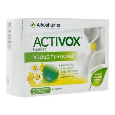 ACTIVOX sans sucre Past menthe eucalyptus B/24