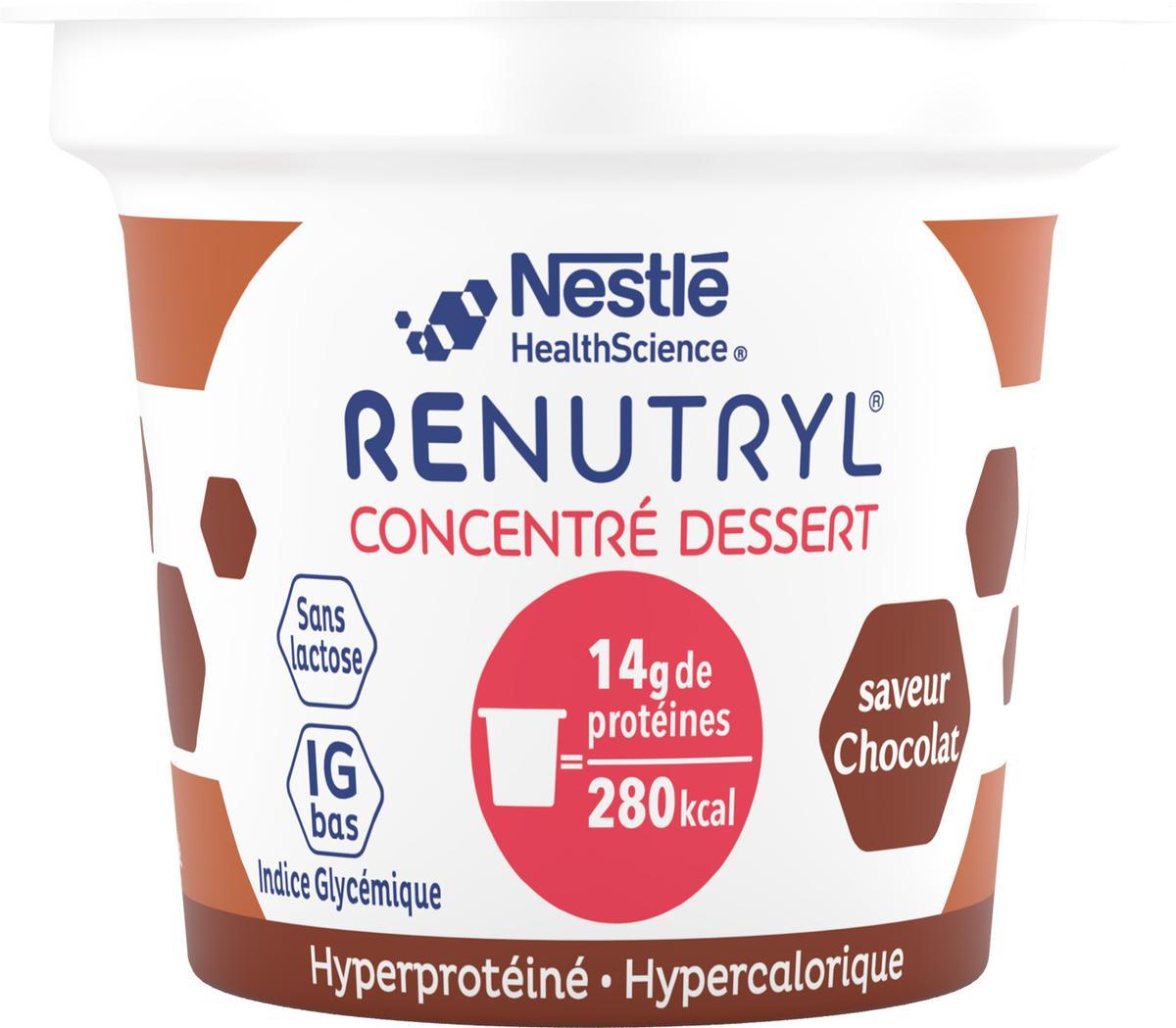 Renutryl Concentre Dessert Saveur Chocolat 4 X 140 G