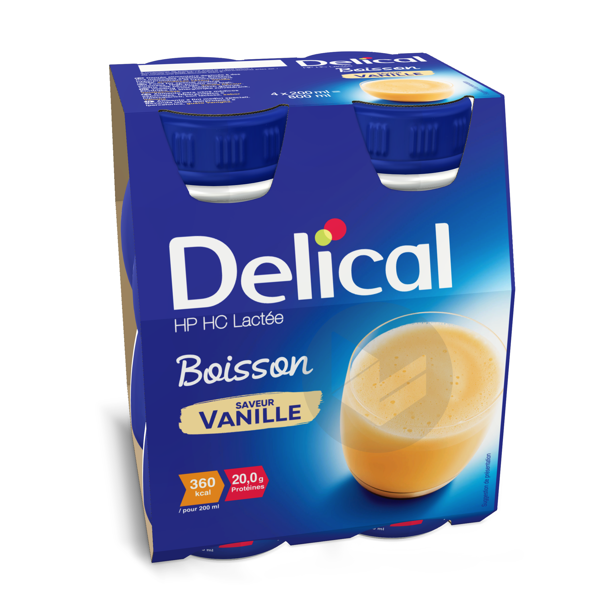 Delical Boisson Hp Hc Lactee Vanille