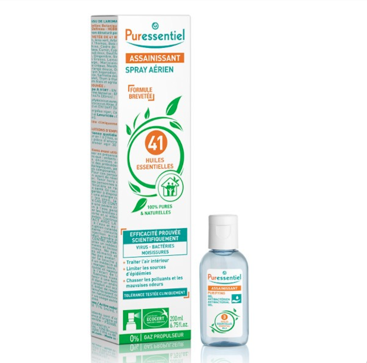 Spray Aerien Assainissant 200 Ml Gel Anti Bacterien 25 Ml