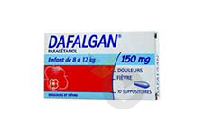DAFALGAN 150 mg Suppositoire (Plaquette de 10)