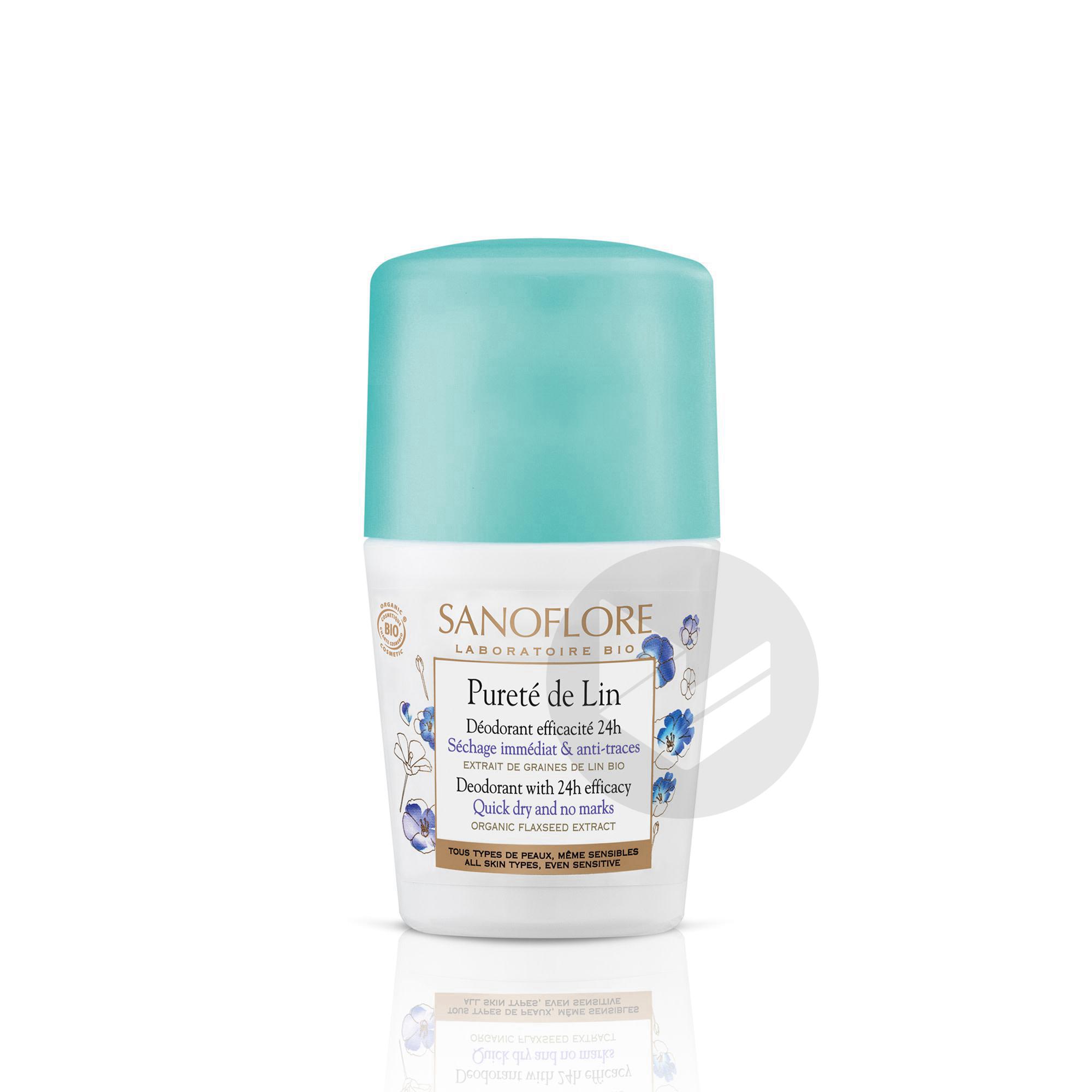 Purete De Lin Deodorant Anti Traces Efficacite 24 H 50 Ml