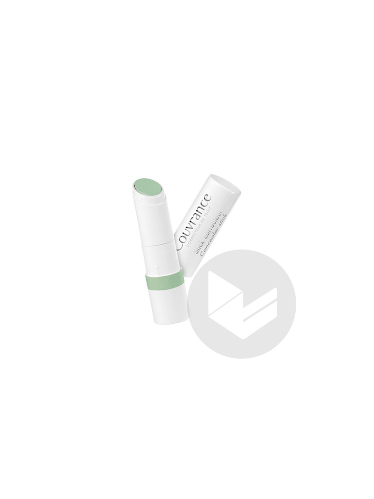 COUVRANCE Stick correcteur vert hyperchromie rouge 3,5g