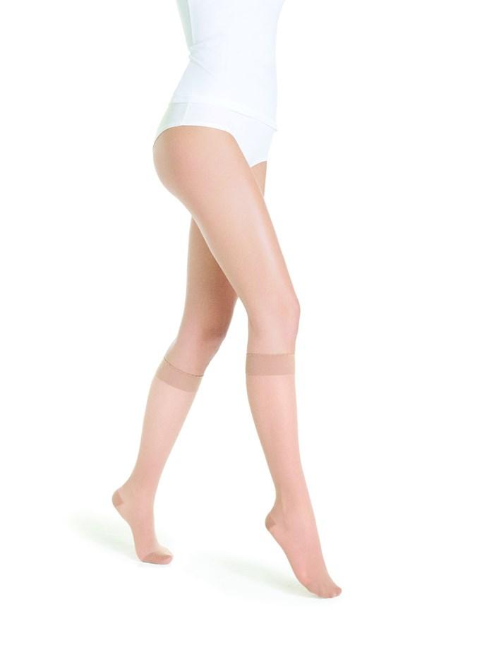 Chaussetes Transparentes Classe 2 Longueur Normale Beige 110 Taille M