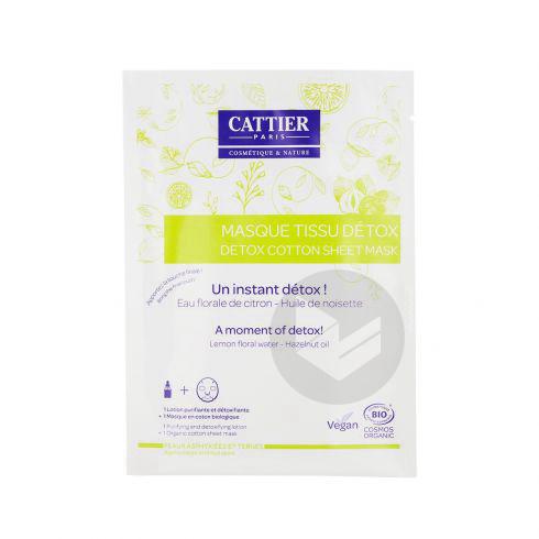 CATTIER Masque tissu détox bio