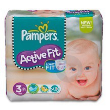PAMPERS ACTIVE FIT Change complet T3 4-9kg Paq/28
