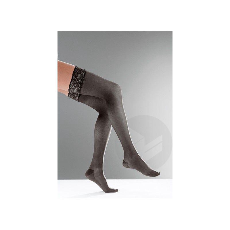 Bas Cuisse Venoflex Secret Classe 2 Anti Glisse Longueur Normale Noir Taille 2