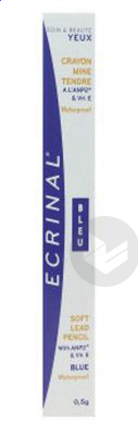 Ecrinal Cils Crayon Mine Tendre Waterproof Bleu
