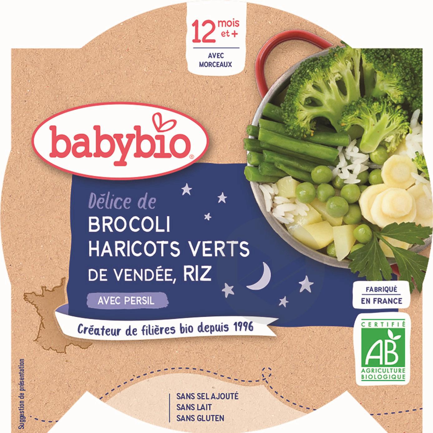 Assiette Bonne Nuit Legumes Verts Riz