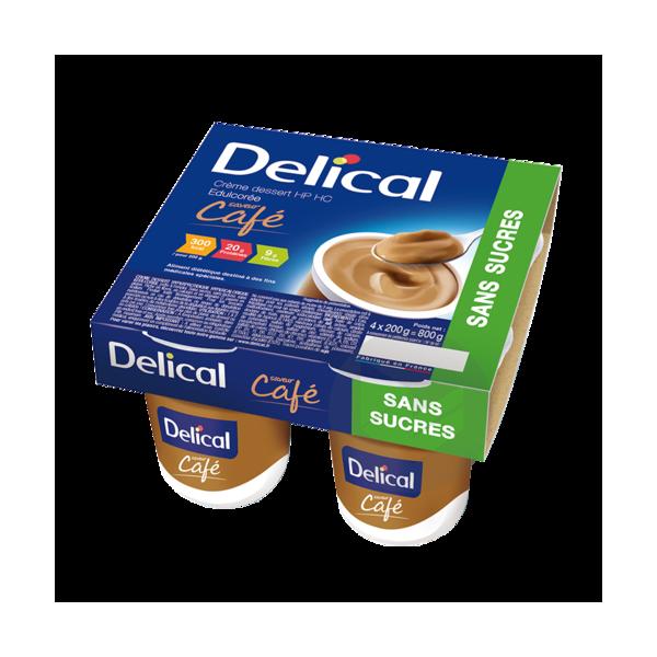 DELICAL CREME DESSERT HP HC SANS SUCRES Nutriment café 4Pots/200g