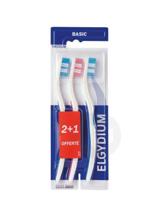 Brosse A Dents Basic Medium X 3