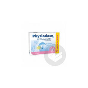 Physiodose Filtre X 20 2 Embouts