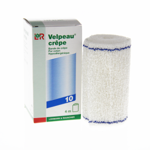 Bande Velpeau Crepe Coton 10 Cmx 4 M