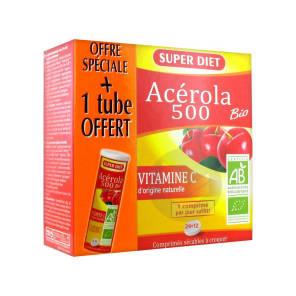 Acerola 500 Bio 24 Comprimes 12 Comprimes Offerts
