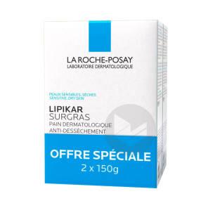 Lot 2 Lipikar Pain Surgras Dermatologique Anti Dessechement 150 G