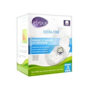 Serviette Periodique Extra Fine Coton Peau Sensible Sac 10