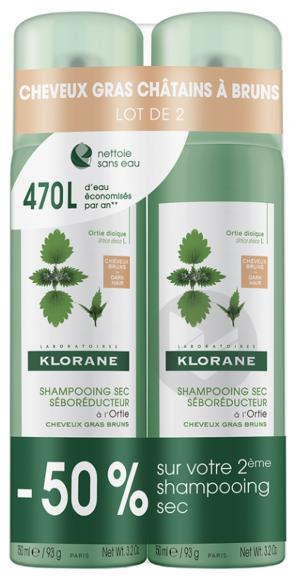 Ortie Duo Shampooings Sec Spray 2 X 150 Ml