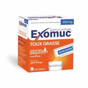 Exomuc 200 Mg Granules Pour Solution Buvable En Sachet 24 Sachets